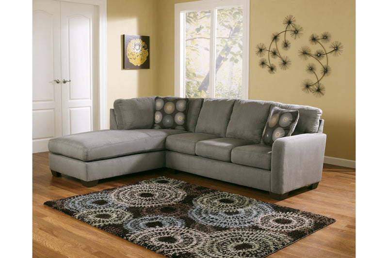 70200 Zella Charcoal 2-Piece Sectional with Chaise | 70200S2 | by Ashley | Nova Furniture