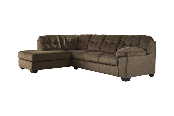 70508 Accrington Earth 2-Piece LAF Chaise Sleeper Sectional