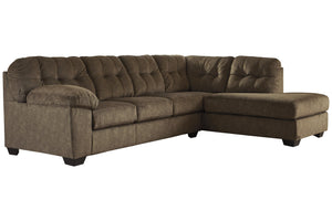 70508 Accrington Earth 2-Piece RAF Chaise Sleeper Sectional