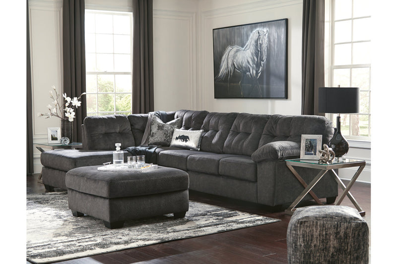 70509 Accrington Granite 2-Piece LAF Chaise Sleeper Sectional