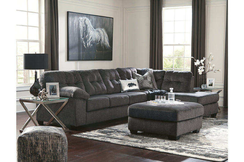 70509 Accrington Granite 2-Piece RAF Chaise Sleeper Sectional