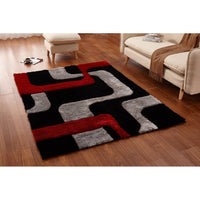 CSR2027-5X7 - Crown Shag 3D Red/Black Area Rug