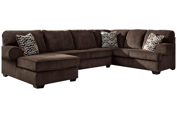 72501 Jinllingsly Chocolate 3-Piece LAF Chaise Sectional