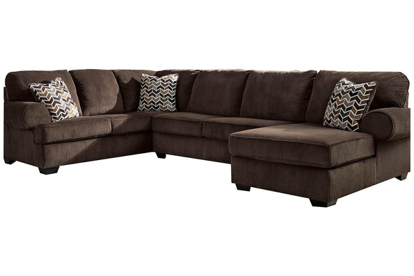 72501 Jinllingsly Chocolate 3-Piece RAF Chaise Sectional