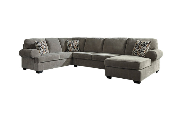 72502 Jinllingsly Gray 3-Piece RAF Chaise Sectional