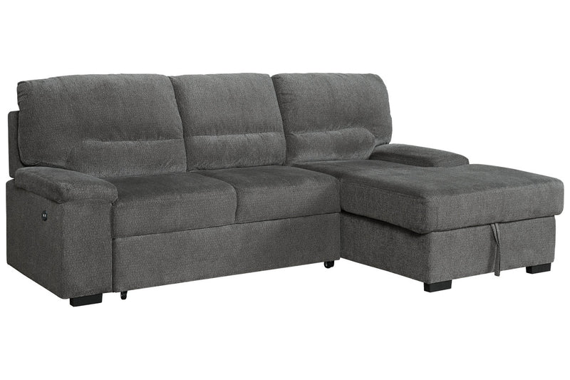 74605 Yantis Gray 2-Piece Sleeper Sectional with Storage