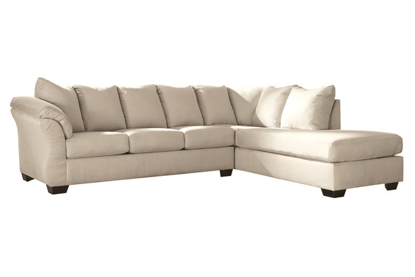 75000 Darcy Stone 2-Piece RAF Chaise Sectional