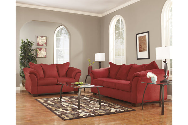 75001 Darcy Salsa Sofa & Loveseat