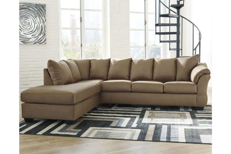 75002 Darcy Mocha 2-Piece Sectional with Chaise | 75002S2 | by Ashley | Nova Furniture