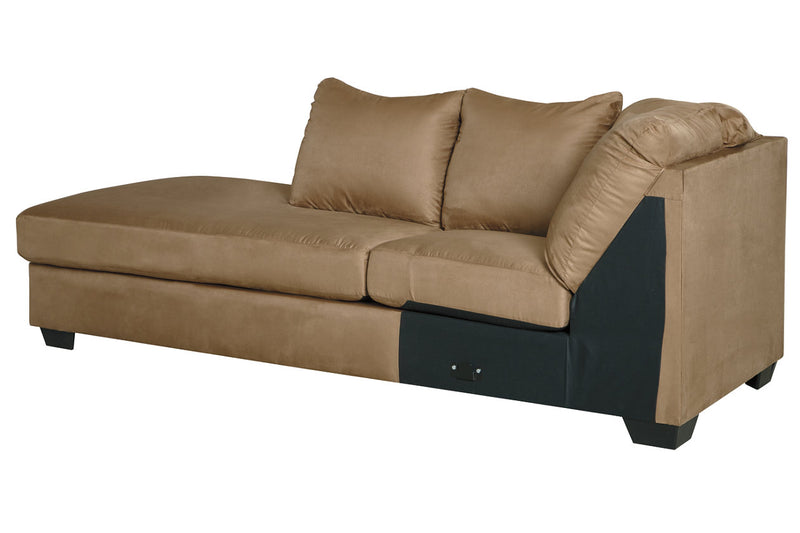 75002 Darcy Mocha 2-Piece LAF Chaise Sectional
