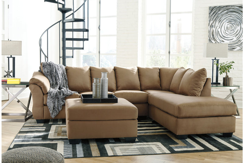 75002 Darcy Mocha 2-Piece RAF Chaise Sectional