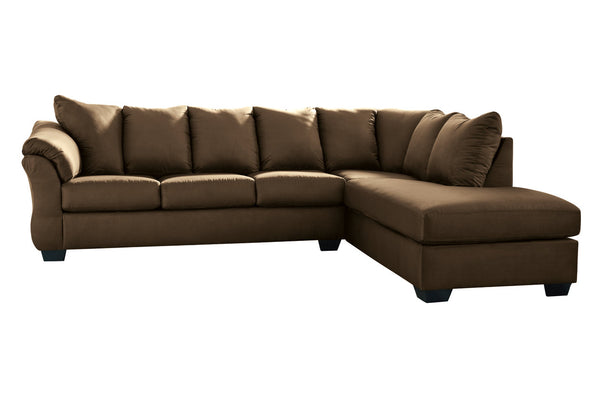 75004 Darcy Cafe 2-Piece Sectional RAF Chaise Sectional