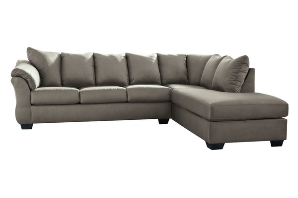75005 Darcy Cobblestone 2-Piece RAF Chaise Sectional