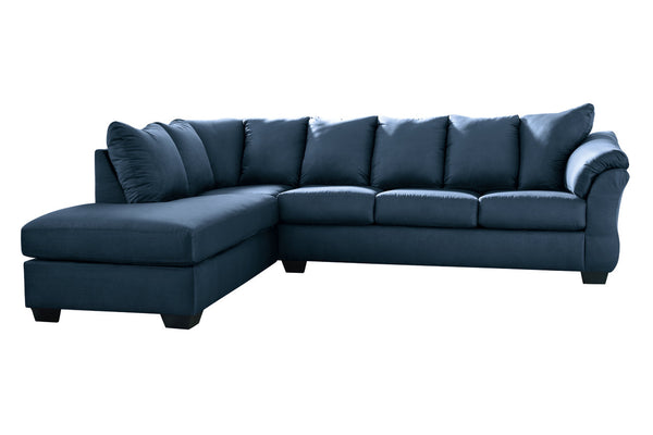 75007 Darcy Blue 2-Piece LAF Chaise Sectional