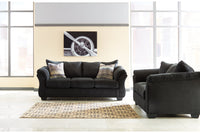 75008 Darcy Black Sofa & Loveseat