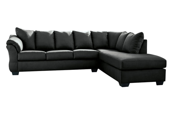 75008 Darcy Black 2-Piece RAF Chaise Sectional