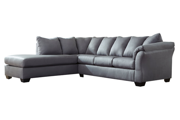 75009 Darcy Steel 2-Piece Sectional with Chaise