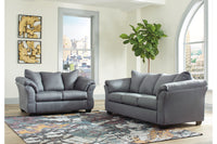 75009 Darcy Steel Sofa & Loveseat