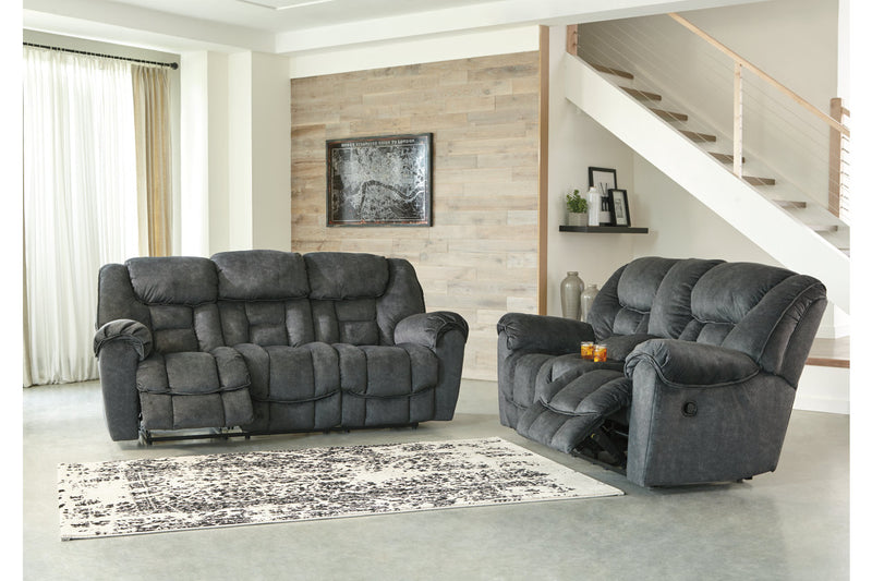 76902 Capehorn Granite Reclining Sofa & Loveseat