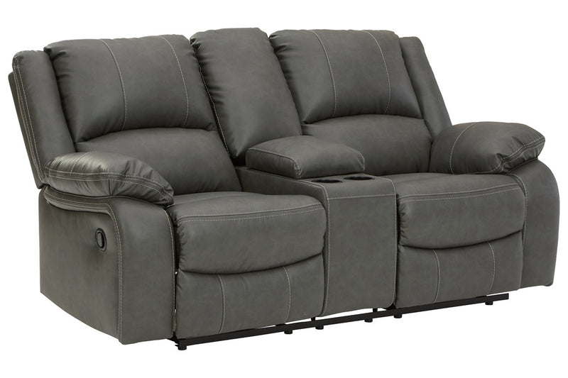 77103 Calderwell Gray Reclining Sofa & Loveseat