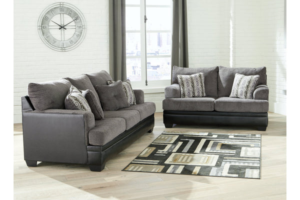 78202 Millingar Smoke Sofa & Loveseat