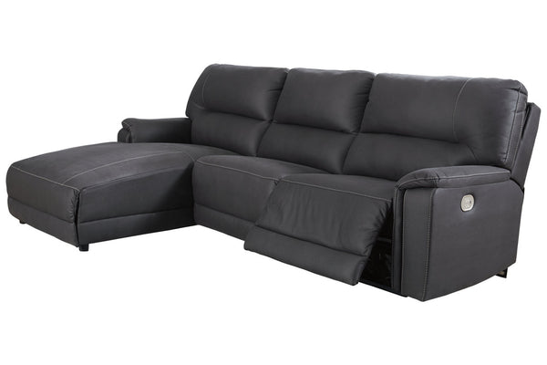 78606 Henefer Midnight 3-Piece Power Reclining LAF Chaise Sectional