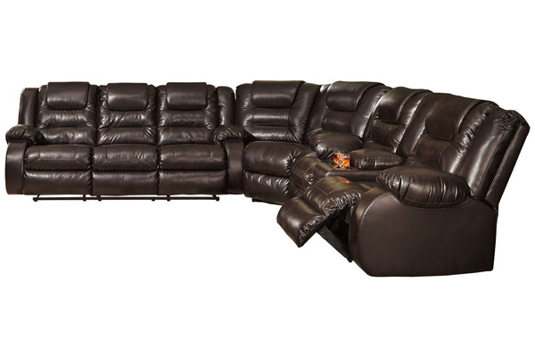 79307 Vacherie Chocolate 3-Piece Reclining Sectional