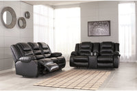 79308 Vacherie Black Reclining Sofa & Loveseat