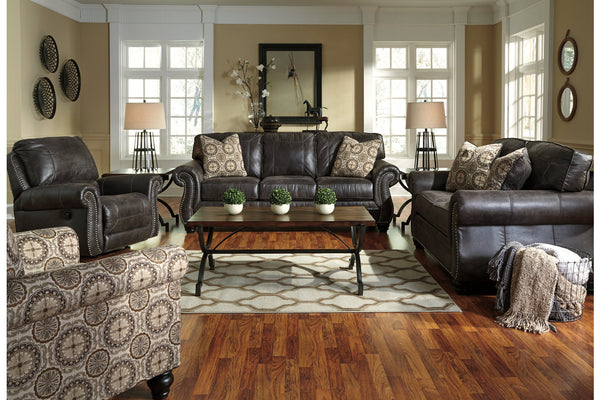 80004 Breville Charcoal Sofa & Loveseat