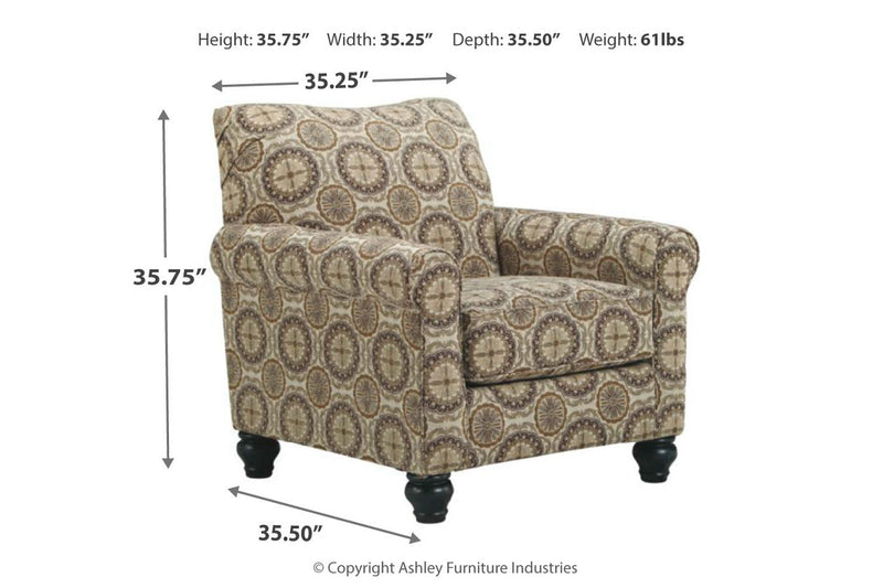 800XX Breville Accents Burlap Chair | 800XX21 | by Ashley | Nova Furniture