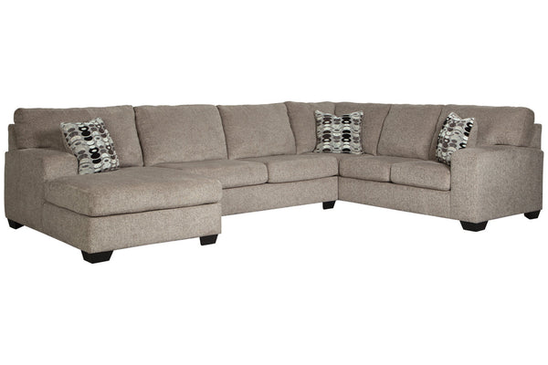 80702 Ballinasloe Platinum 3-Piece LAF Chaise Sectional