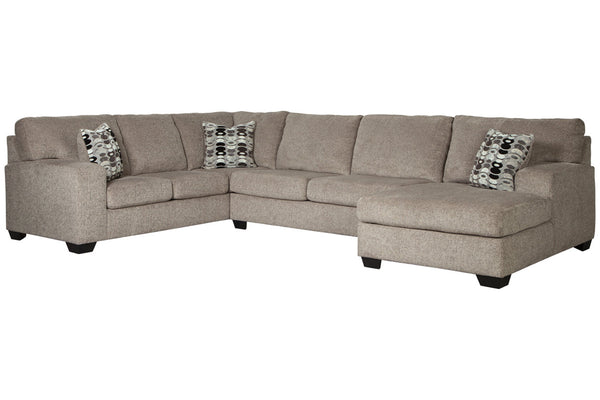 80702 Ballinasloe Platinum 3-Piece RAF Chaise Sectional