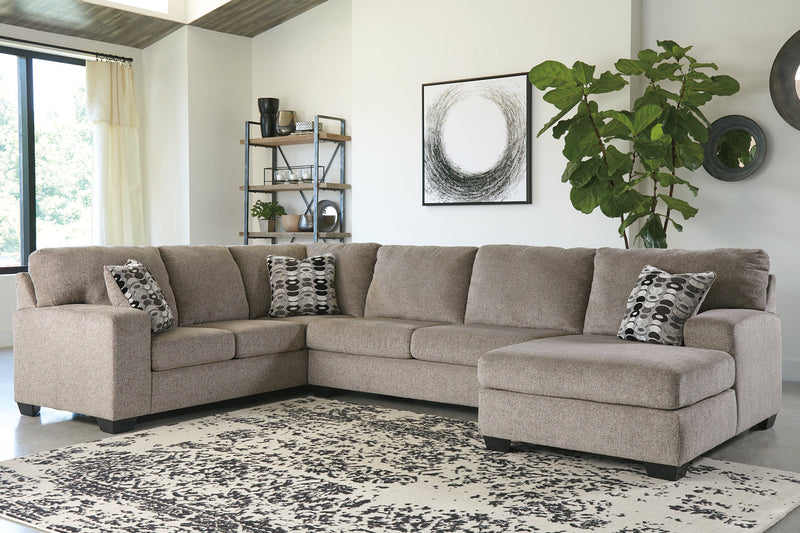 80702 Ballinasloe Platinum 3-Piece Sectional with Chaise | 80702S2 | by Ashley | Nova Furniture