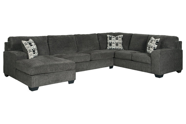 80703 Ballinasloe Smoke 3-Piece LAF Chaise Sectional