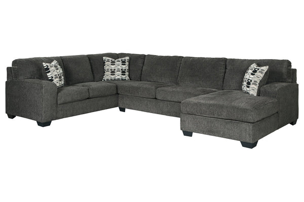 80703 Ballinasloe Smoke 3-Piece RAF Chaise Sectional