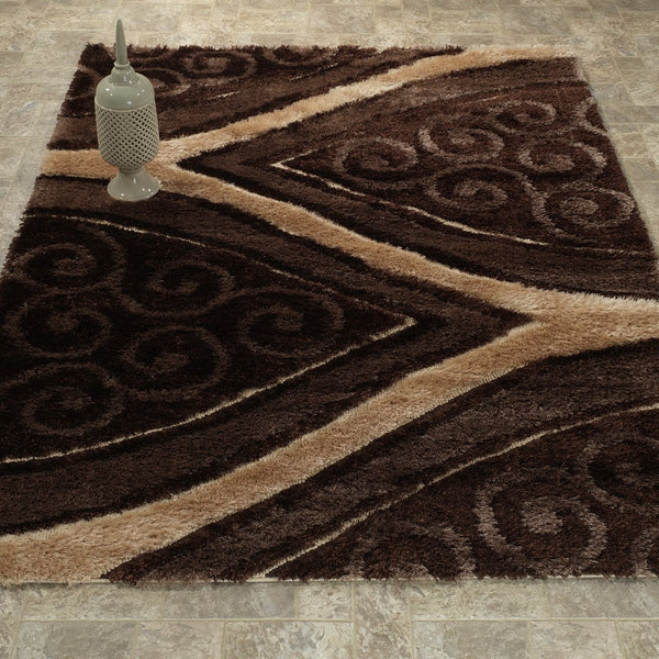 CSR3901-5X7 - Casa Shag 3D Black/Grey Area Rug