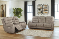 82001 Yacolt Fog Power Reclining Sofa & Loveseat