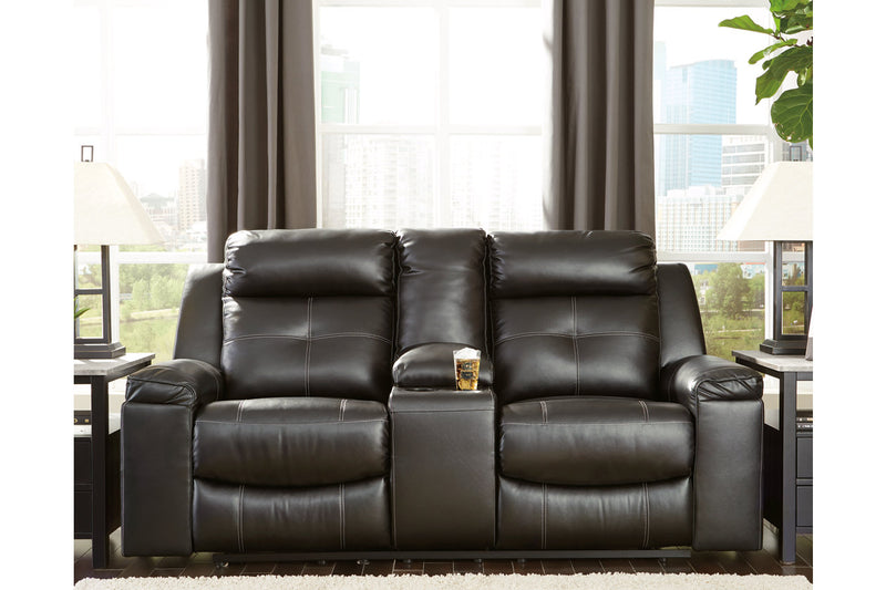 82105 Kempten Black Reclining Sofa & Loveseat