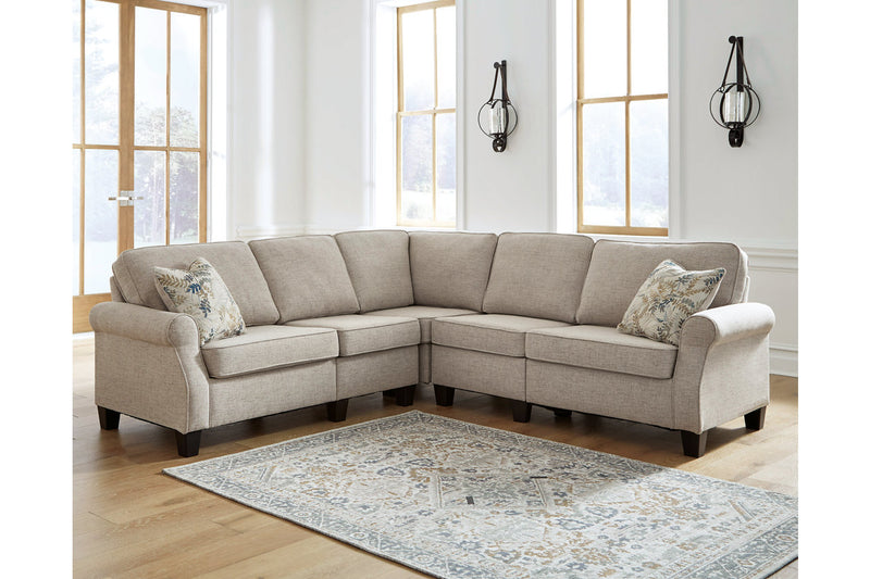 82404 Alessio Beige 4-Piece Sectional
