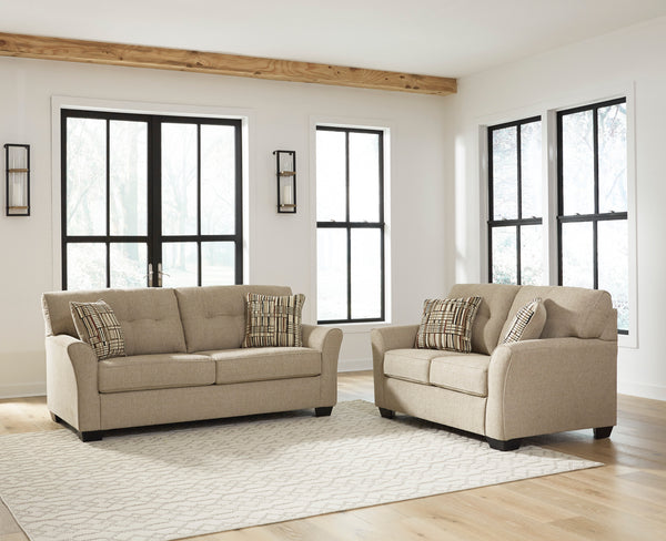 83004 Ardmead Putty Sofa & Loveseat