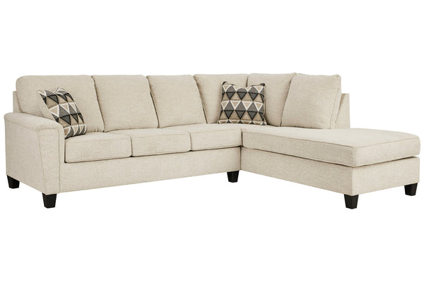 83904 Abinger Natural 2-Piece LAF Chaise Sleeper Sectional