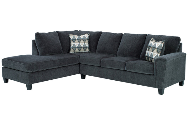 83905 Abinger Smoke 2-Piece LAF Chaise Sleeper Sectional