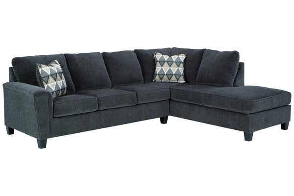 83905 Abinger Smoke 2-Piece RAF Chaise Sleeper Sectional