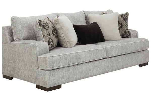84604 Mercado Pewter Sofa & Loveseat