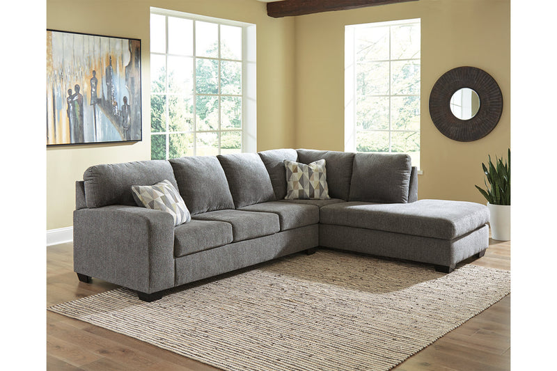 85703 Dalhart Charcoal 2-Piece Sectional with Chaise | 85703S2 | by Ashley | Nova Furniture