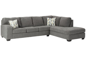 85703 Dalhart Charcoal 2-Piece RAF Chaise Sectional