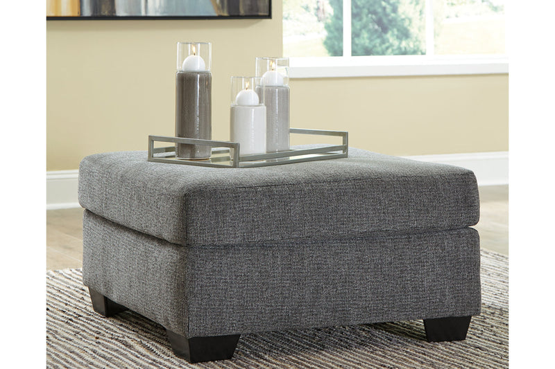 85703 Dalhart Charcoal Oversized Accent Ottoman