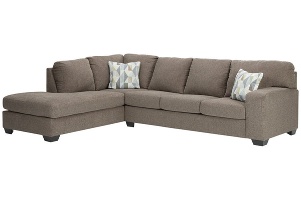 85704 Dalhart Hickory 2-Piece LAF Chaise Sectional