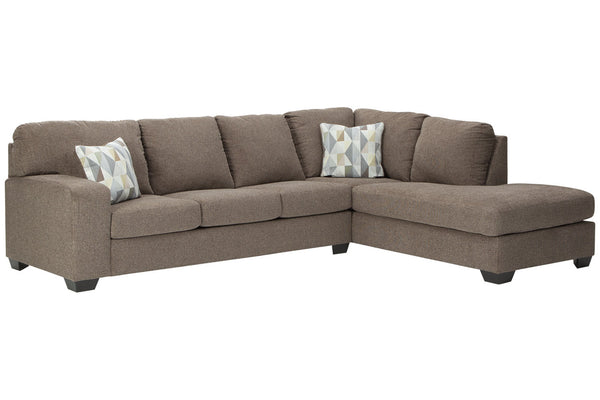 85704 Dalhart Hickory 2-Piece RAF Chaise Sectional