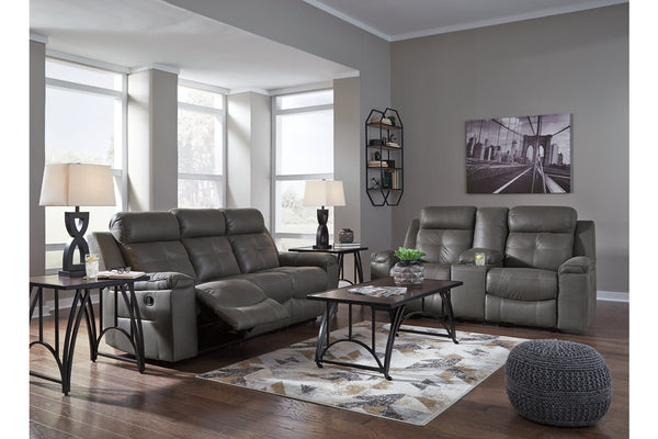 86705 Jesolo Dark Gray Reclining Sofa & Loveseat